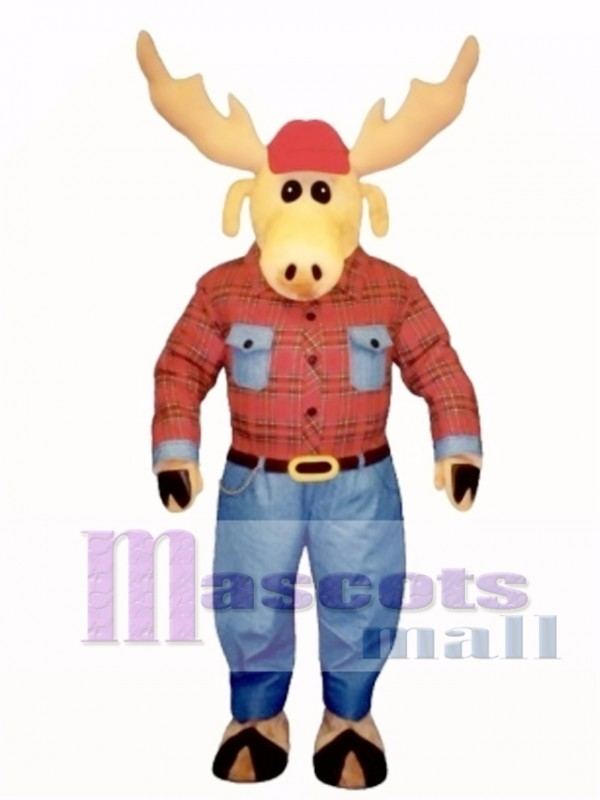 Cute Montana Moose Mascot Costume