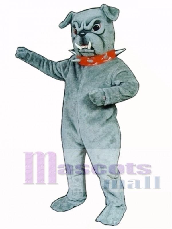 Cute Bulldog with Collar Mascot Costume