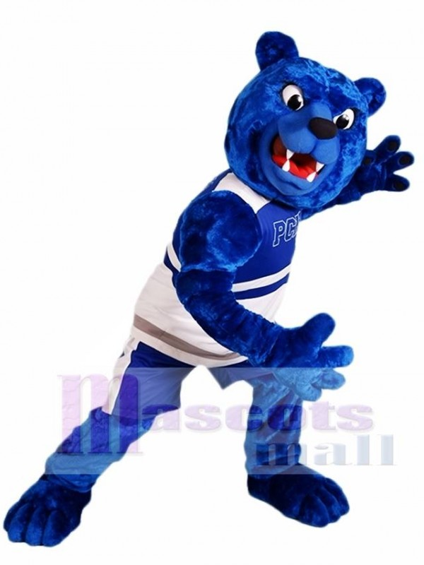 Royal Blue Bear Mascot Costume Furry Mascot Costumes