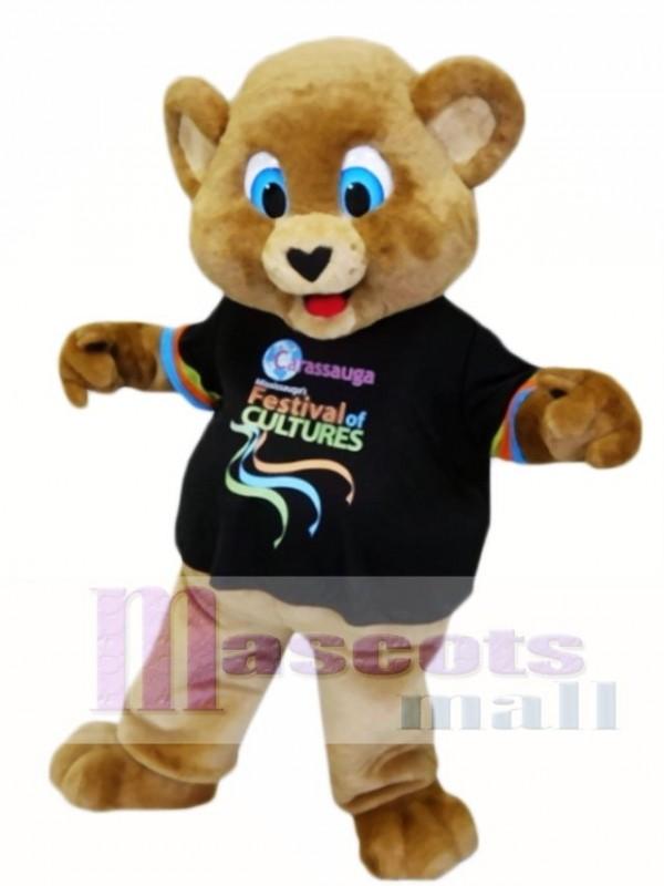 Blue Eyes Brown Bear Mascot Costumes