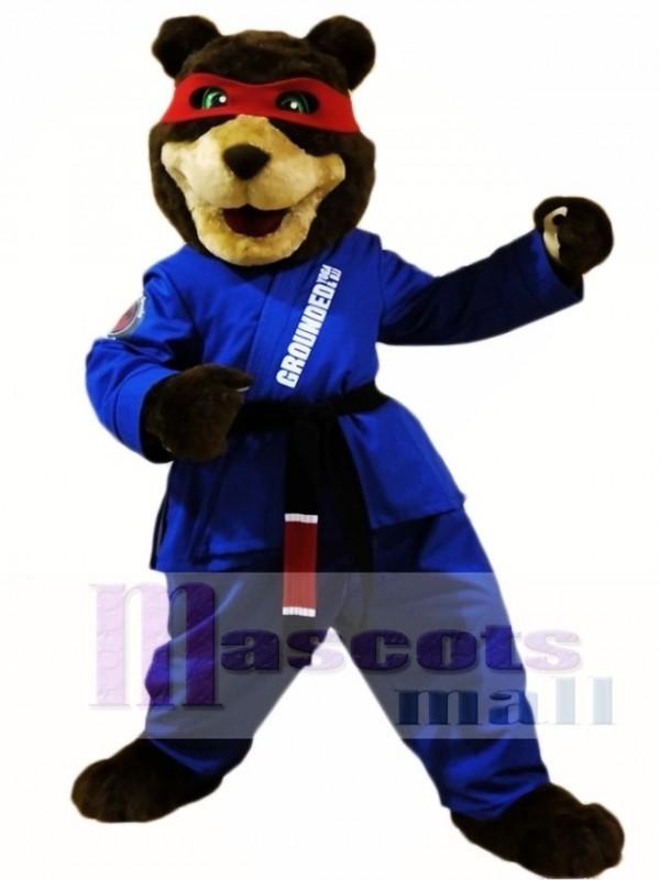 Black Belt Taekwondo Bear Mascot Costumes