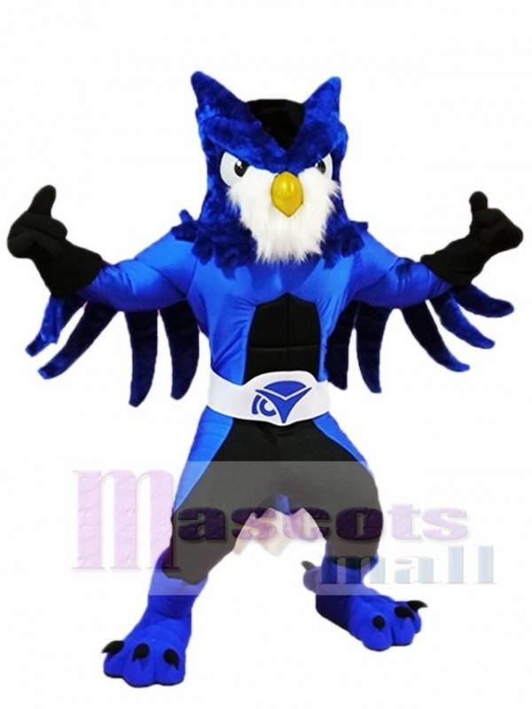Royal Blue Owl Mascot Costumes Animal
