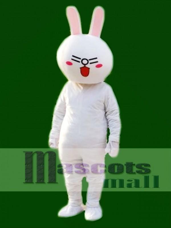 Laugh Cony Rabbit Bunny Mascot Costumes Line Town Friends