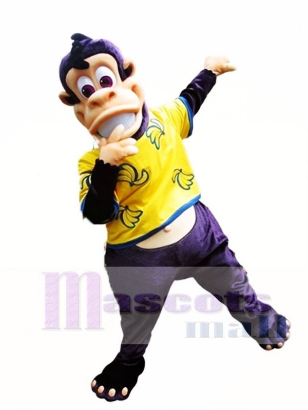 Purple Ape Mascot Costume Eddie the Ape Mascot Costumes