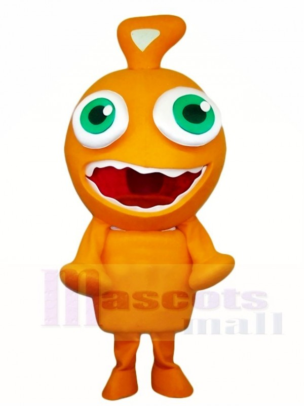 Orange Alien Mascot Costumes