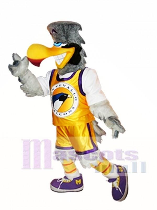 Light Gray Falcon Mascot Costume Light Grey Hawk Mascot Costumes