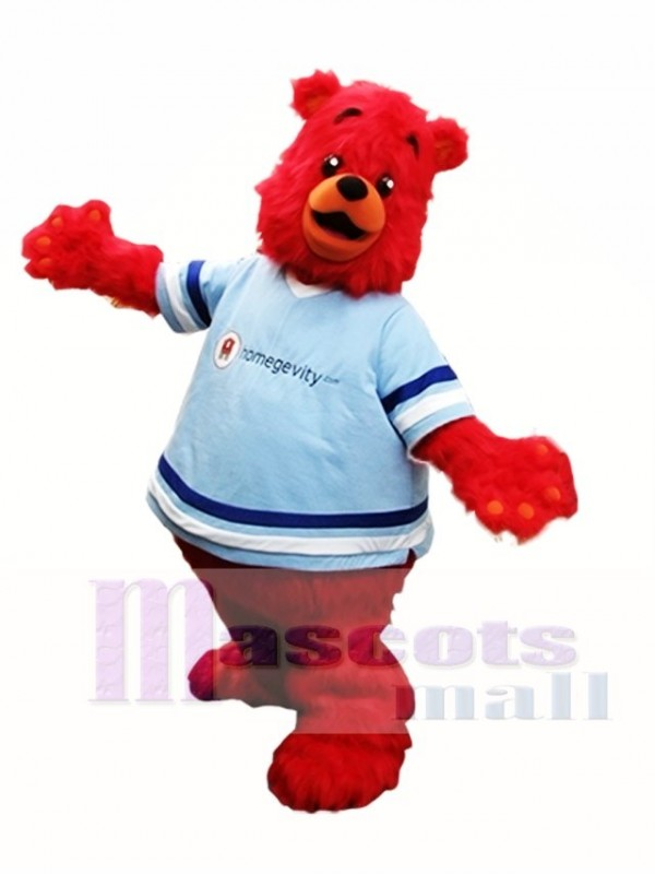 Red Bear Mascot Costume Furry Bear Mascot Costumes Animal
