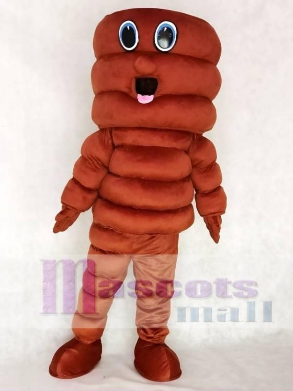 Brown Tornado Cyclone Hurricane Mascot Costume
