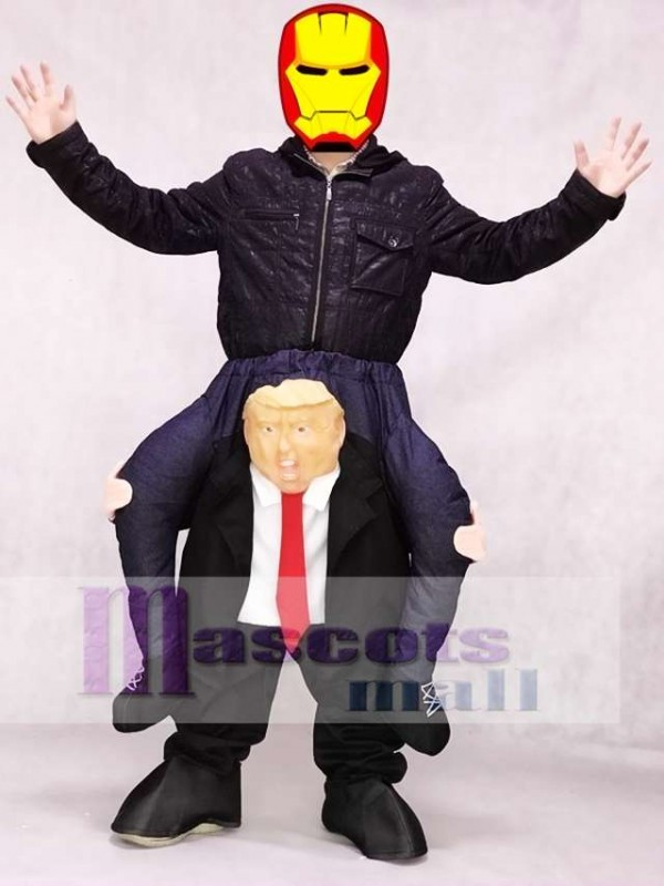 Piggyback US President Trump Carry Me Ride Mascot Costume