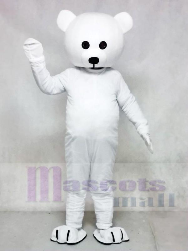 Black Nose White Bear Mascot Costume Animal