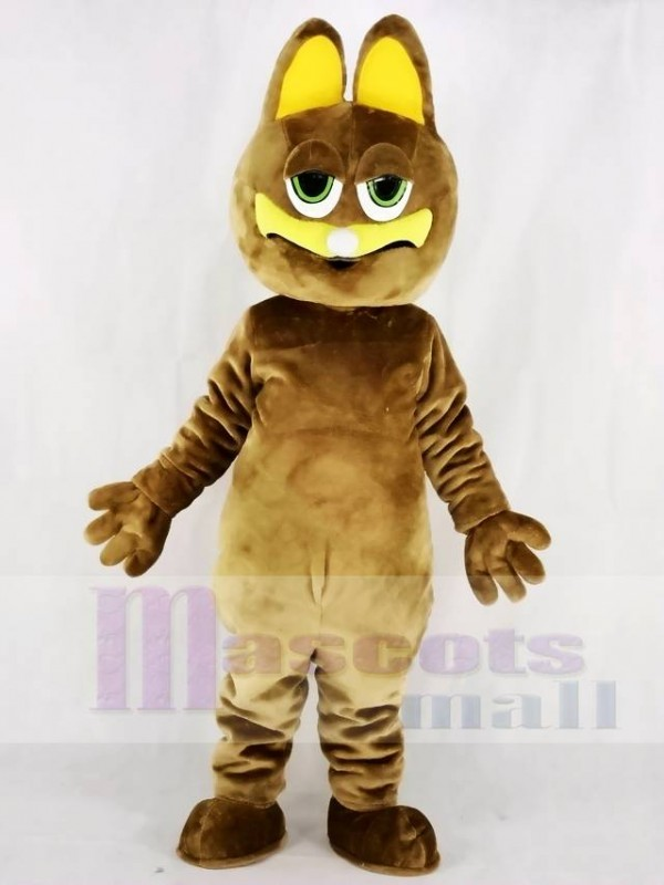 Fat Brown Cat Mascot Costumes Animal