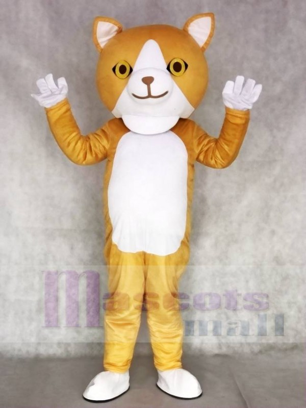 Happy Cat Mascot Adult Costumes Animal