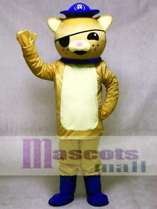 Captain Kwazii Orange Kitten Mascot Costumes from Octonauts Film Octonauts Cosplay