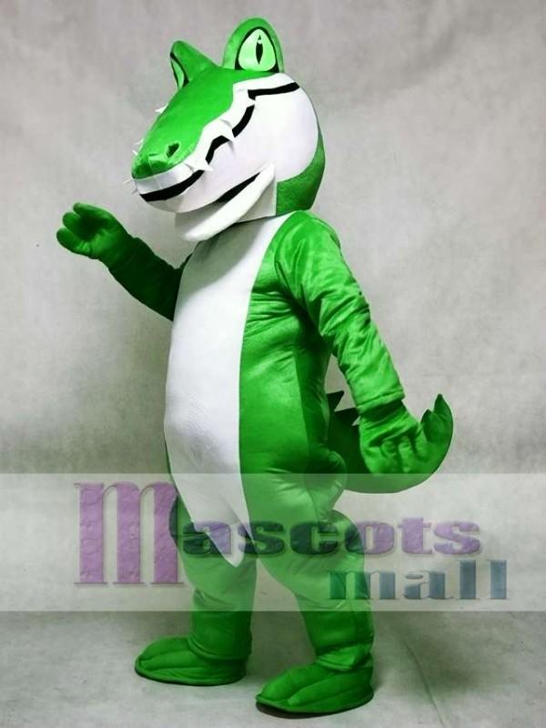 Adult Green Alligator Crocodile Gator Mascot Costume