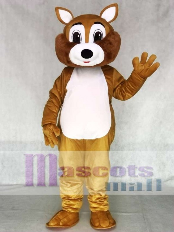 Adult Squirrel Mascot Costume with White Belly