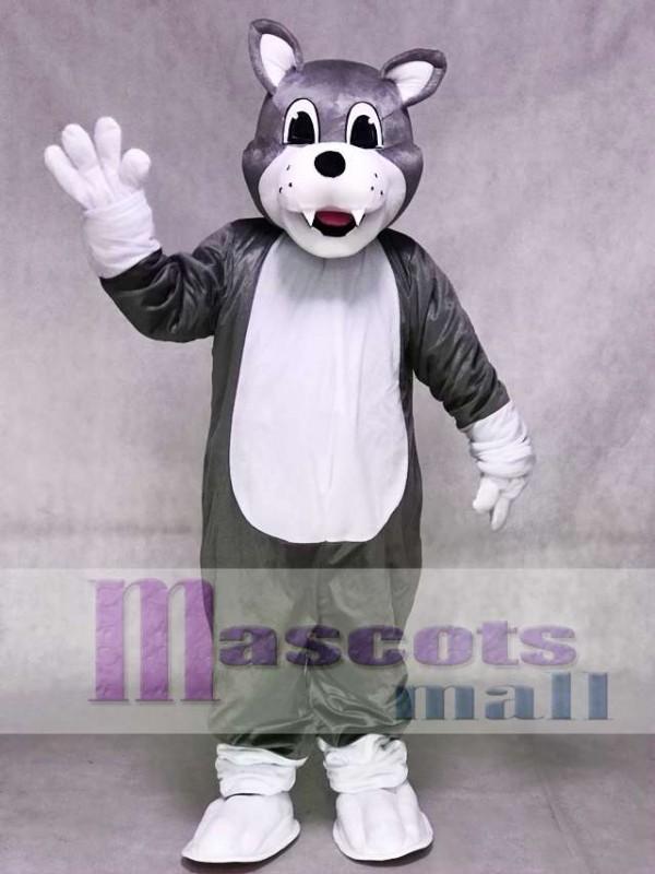 Graues Baby Husky Hund Maskottchen Kostüm Tier