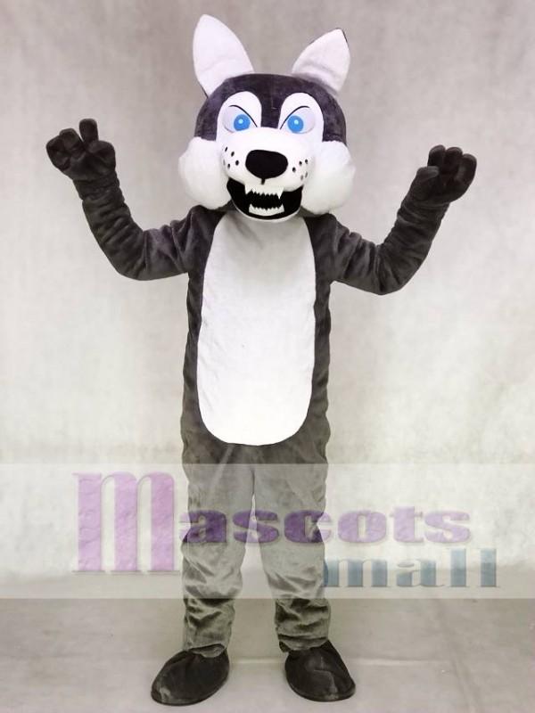 Gray Wolf Mascot Adult Costume Animal