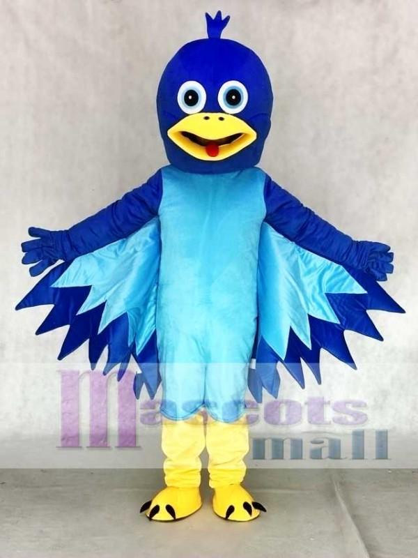 Cartoon Little Blue Bird Mascot Costume
