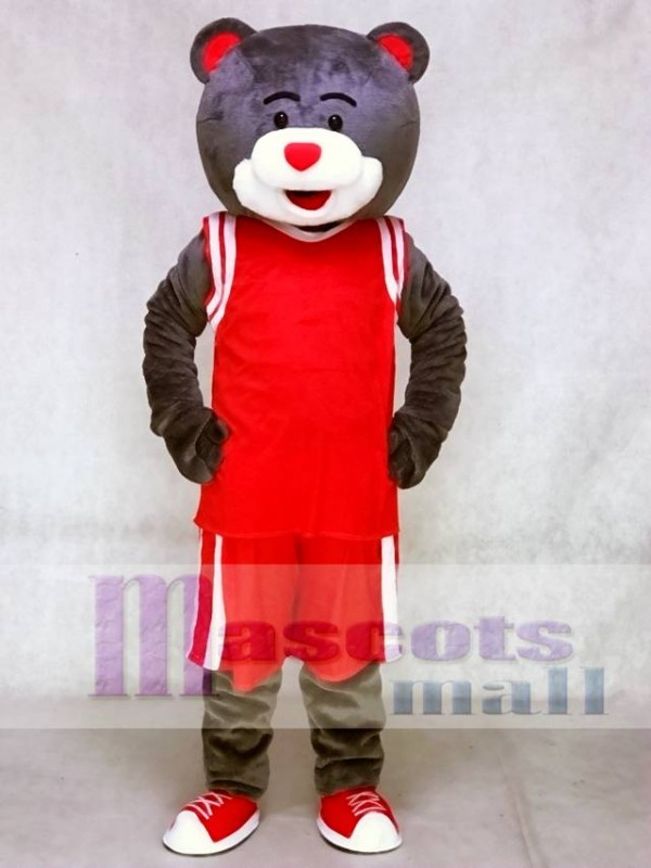 Clutch the Bear Mascot Costume Houston Rockets Grey Bear Mascot