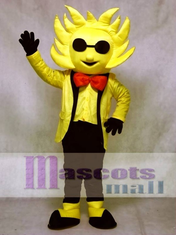 Mr. Sunshine Mascot Costume with Sunglasses