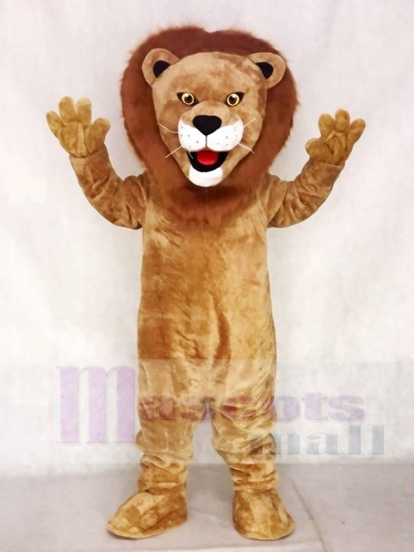 Realistic Animal Male Fierce Lion Mascot Costume