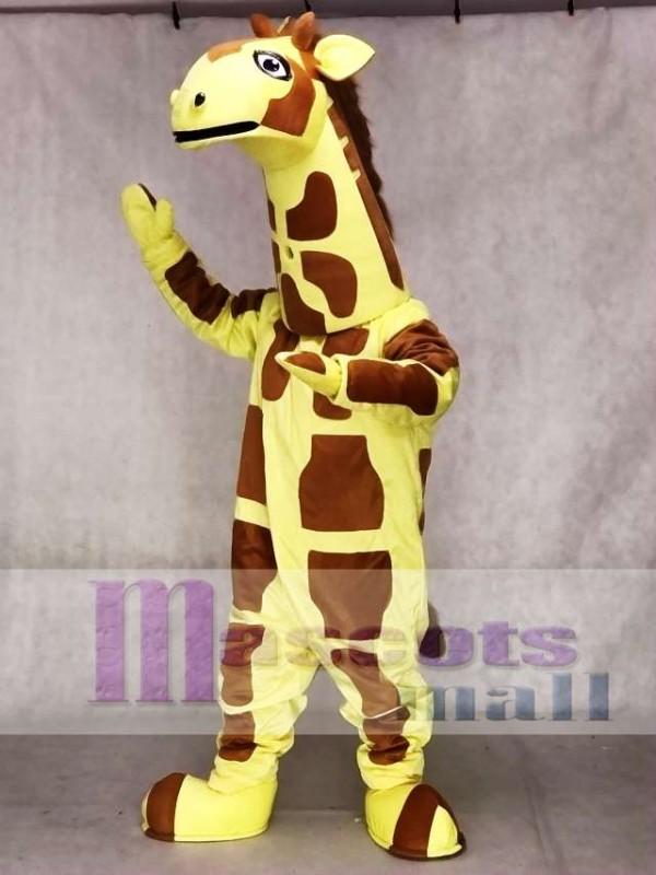 7161546f0 Cute Yellow Giraffe Mascot Costume Animal ...