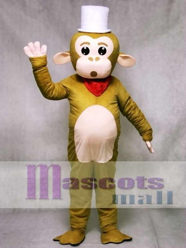 White Cap Monkey Mascot Costume Animal