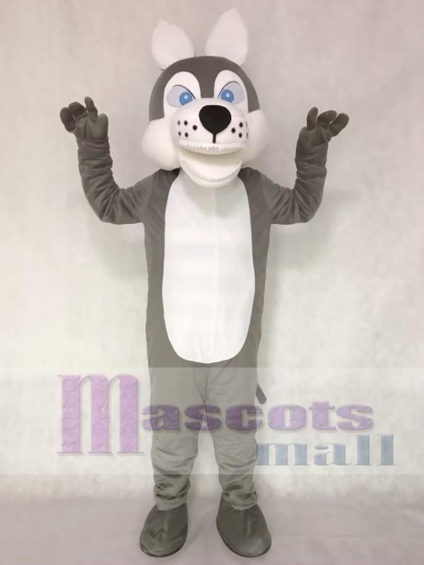 Grey Wolf Mascot Adult Costume
