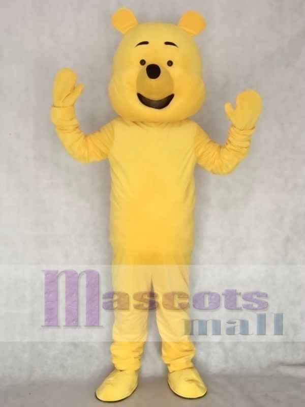Cartoon Yellow Bear Adult Mascot Costume