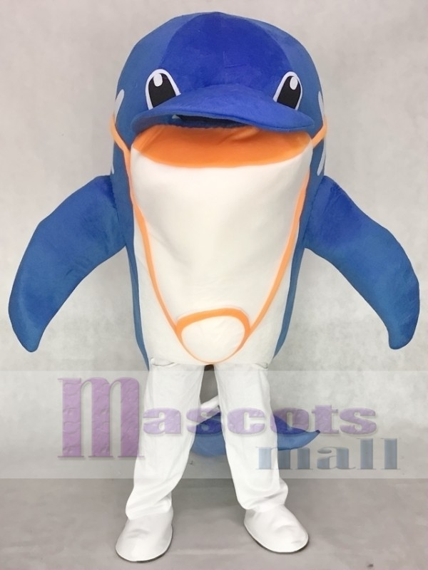 Blue Dolphin Mascot Adult Costume