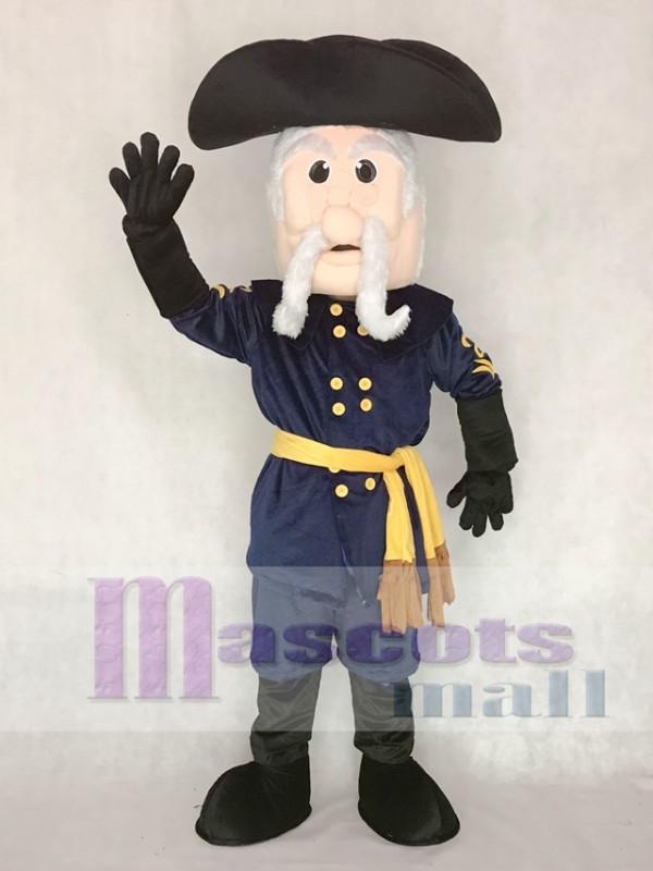 Navy Blue Rebel Mascot Costume