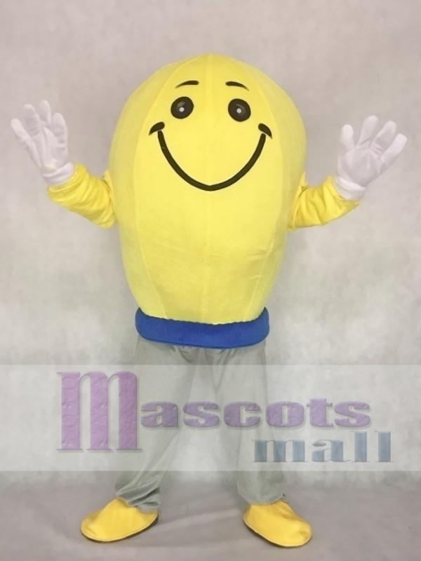 Cute Light Bulb Mascot Adult Costume