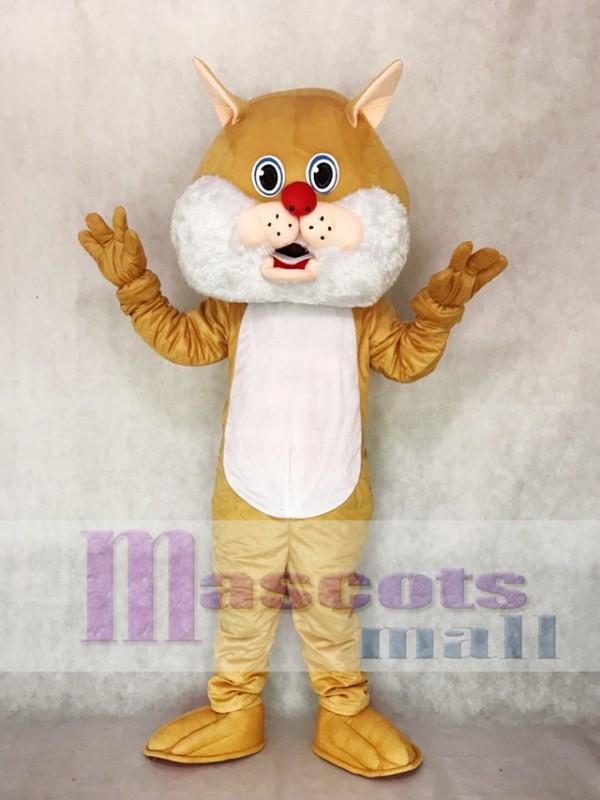 Tan Wirey Wildcat Mascot Costume