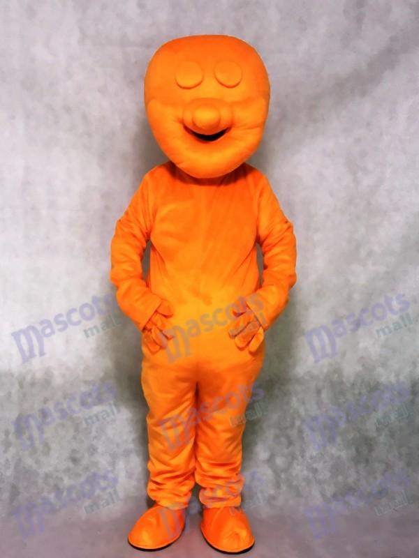 Orange Jelly Baby Snack Mascot Costume
