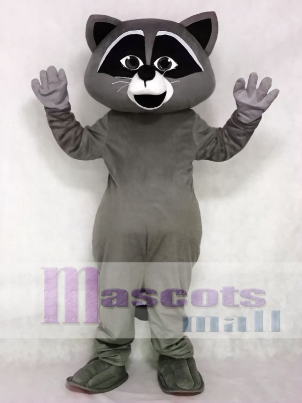 Cute Grey Wild Raccoon Mascot Costume