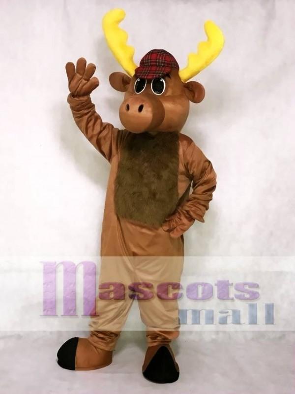 Hunter Moose Mascot Costume