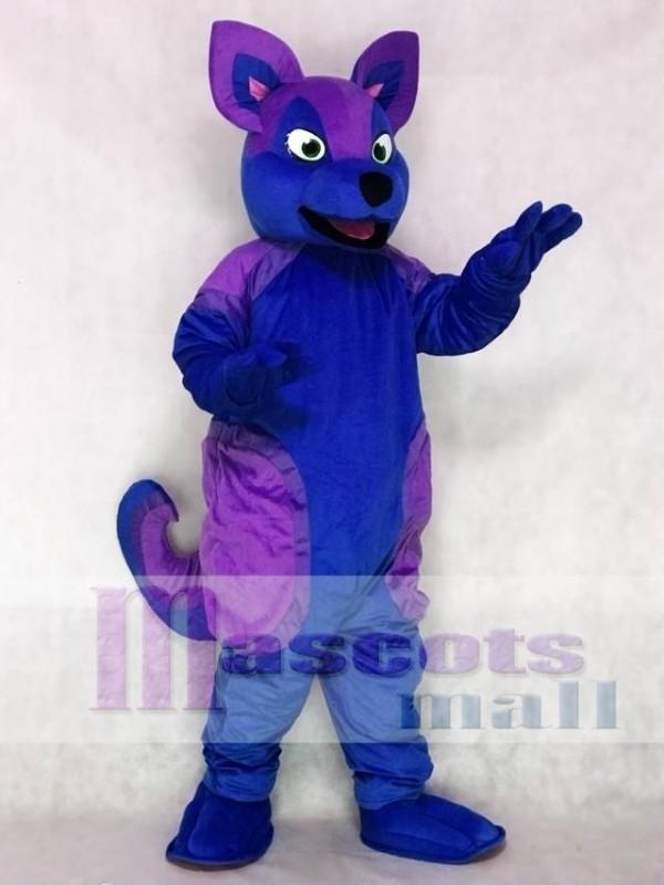 Blue and Purple Husky Dog Fursuit Mascot Costume