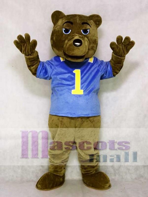 UCLA Dark Brown Bear Mascot Costume with Vest