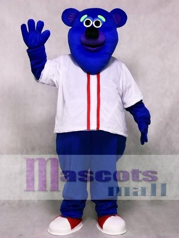 Custom Color Blue Fresno Grizzlies Parker T. Bear Mascot Costume