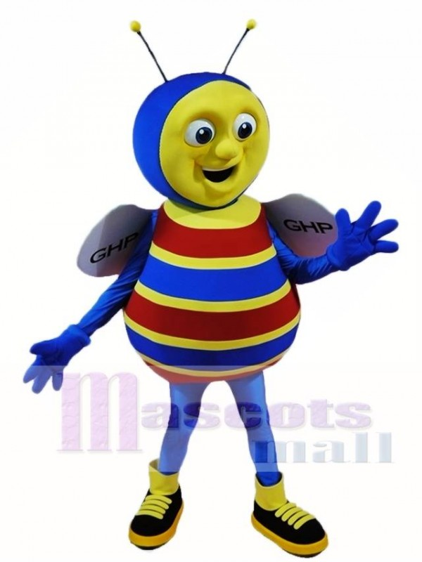 Blue Bee Mascot Costumes Insect
