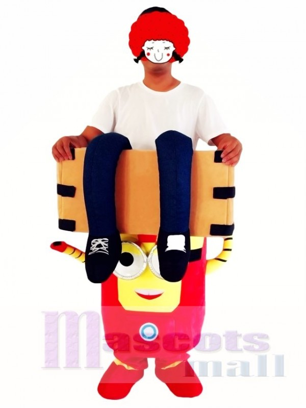 Piggyback Carry Me Ride on Iron Man Despicable Me Minions Mascot Costume