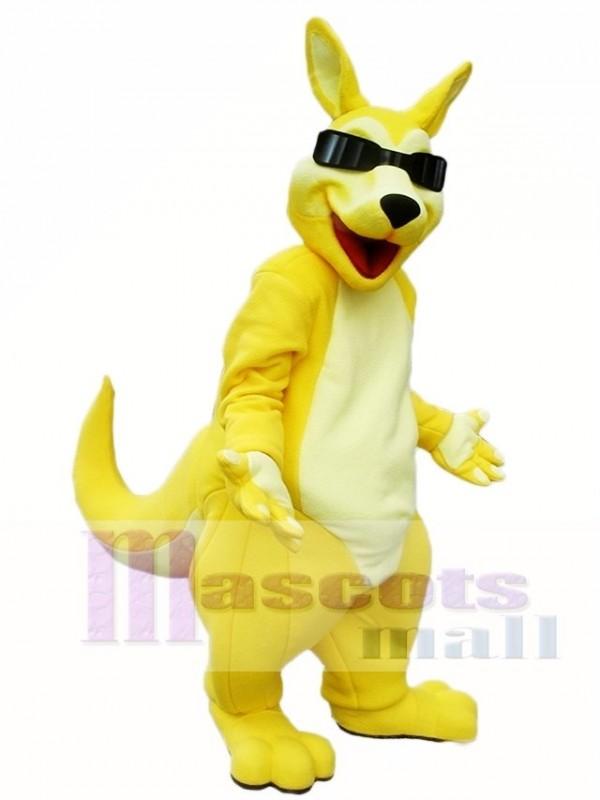 Yellow Kangaroo Roo with Sunglasses Mascot Costumes Animal