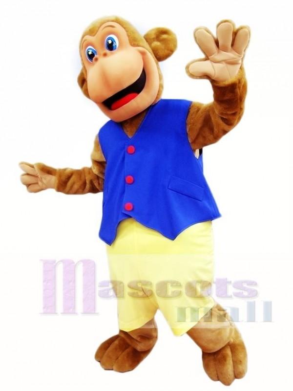 Blue Vest Monkey Mascot Costumes Animal