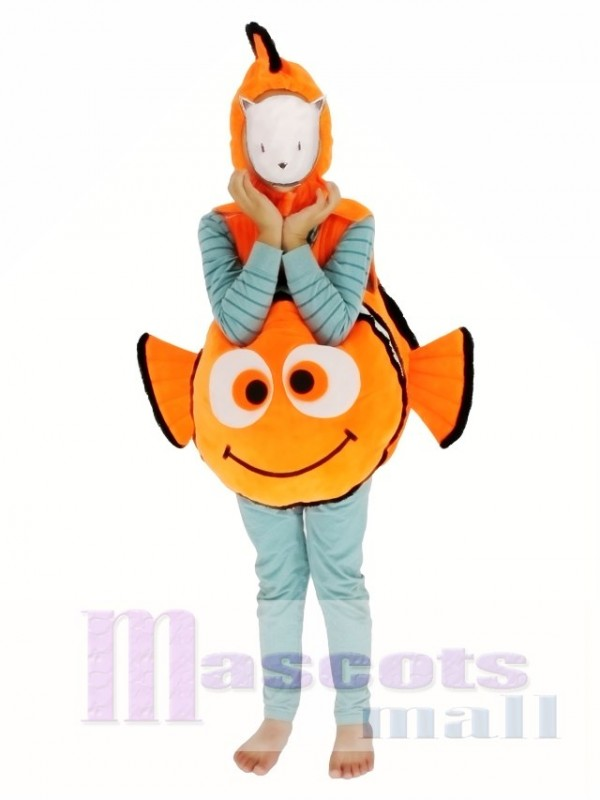 Child Halloween Finding Nemo Clown Fish Mascot Costume