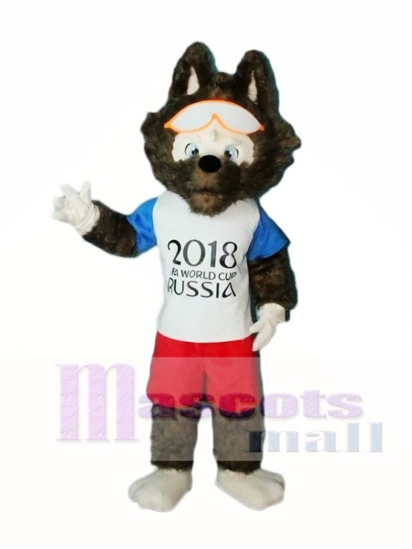 2018 Russia FIFA World Cup Football Zabivaka Grey Wolf Mascot Costumes Animal