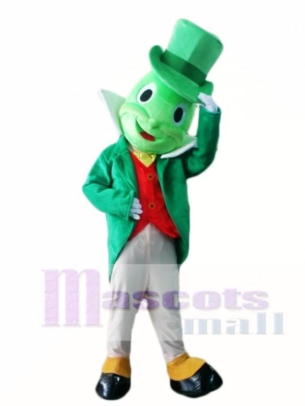 Green Jiminy Cricket Mascot Costumes Insect
