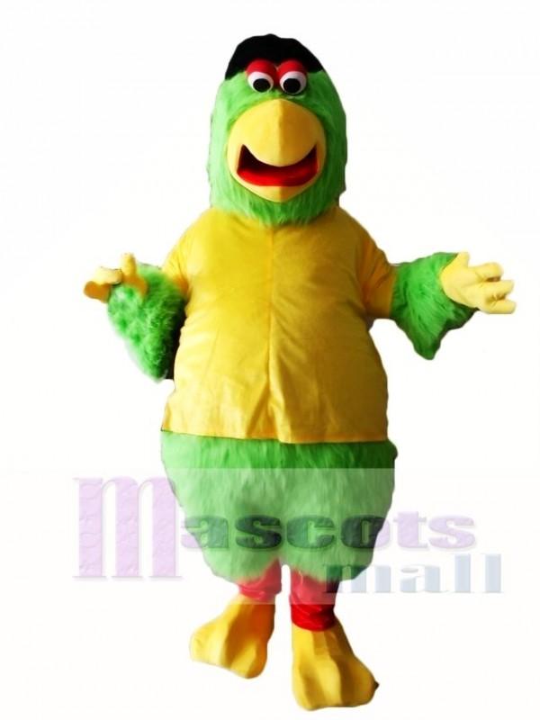 Cute Green Parrot Mascot Costumes Bird