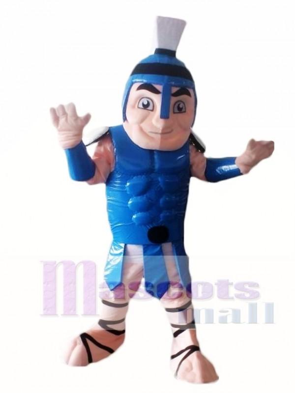 Blue Titan Spartan Trojan Knight Mascot Costume