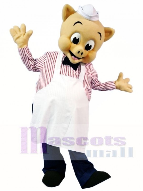 Chef Pig Piggly Mascot Costumes Animal