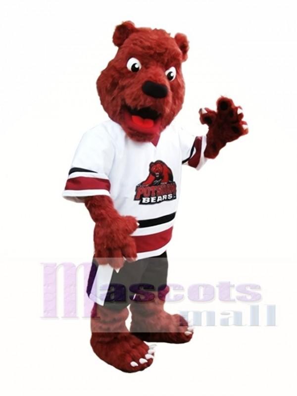 Rust Red Bear Mascot Costume Postdam Bears Mascot Costumes